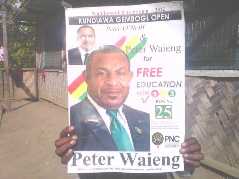 Peter Waieng's 2012 Election Poster